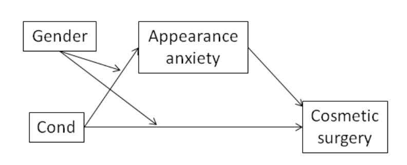 ugLy duckLINg effect 477 FIGURE 4. Conceptual mediated moderation model for appearance anxiety on interest in