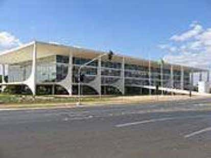 O Palácio do Planalto, sede do Poder Executivo.