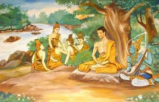 "as well as they could."" Wikipedia:Disputed statement Ascetic Gautama with his five companions, who later"