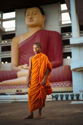 and Nibbana . Nibbana is the ultimate goal of Theravadins. A young monk in Sri Lanka