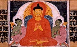 4. The truth of the path leading to the cessation of dukkha The Buddha teaching the