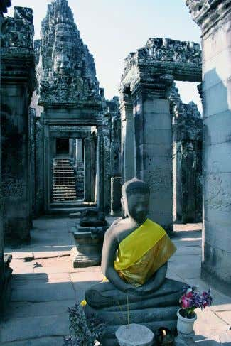 nor the person as a whole comprise a self. Dependent arising Angkor Thom in Cambodia Main