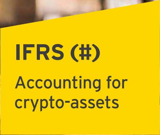 IFRS (#) Accounting for crypto-assets
