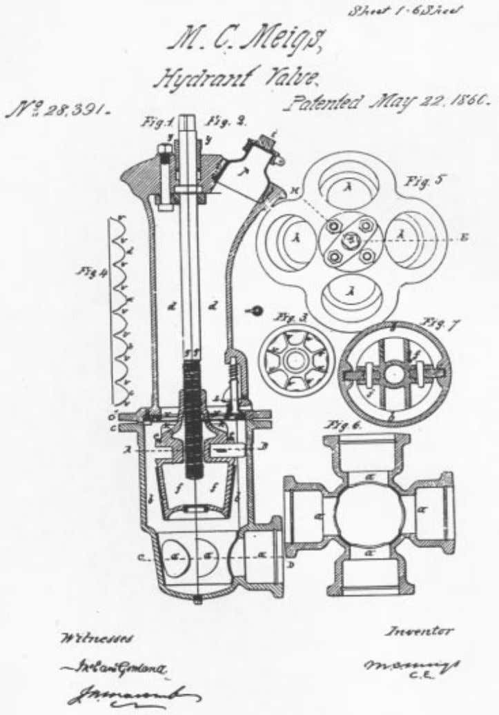 F ig . 5 . A drawing of one of Meigs's patents. (Courtesy Office of