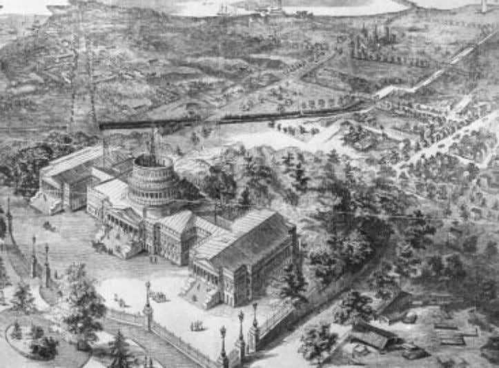 The Eclectic Engineer 7 F ig . 2 . Aerial perspective of the Capitol, ca. 1861