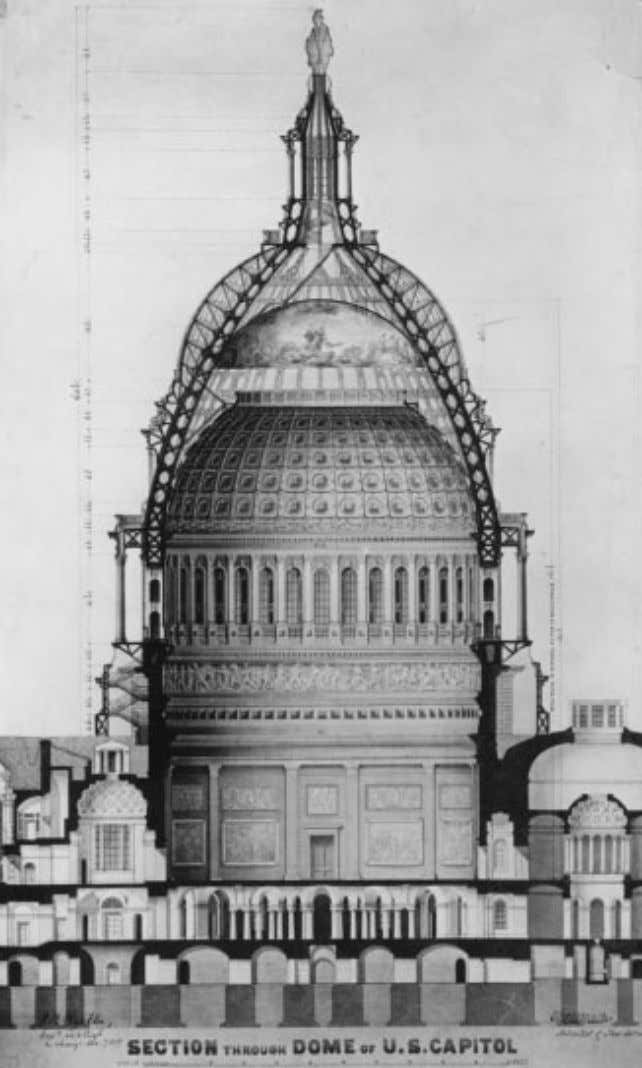 F ig . 3 . Section of Capitol dome. (Courtesy Office of Architect of the