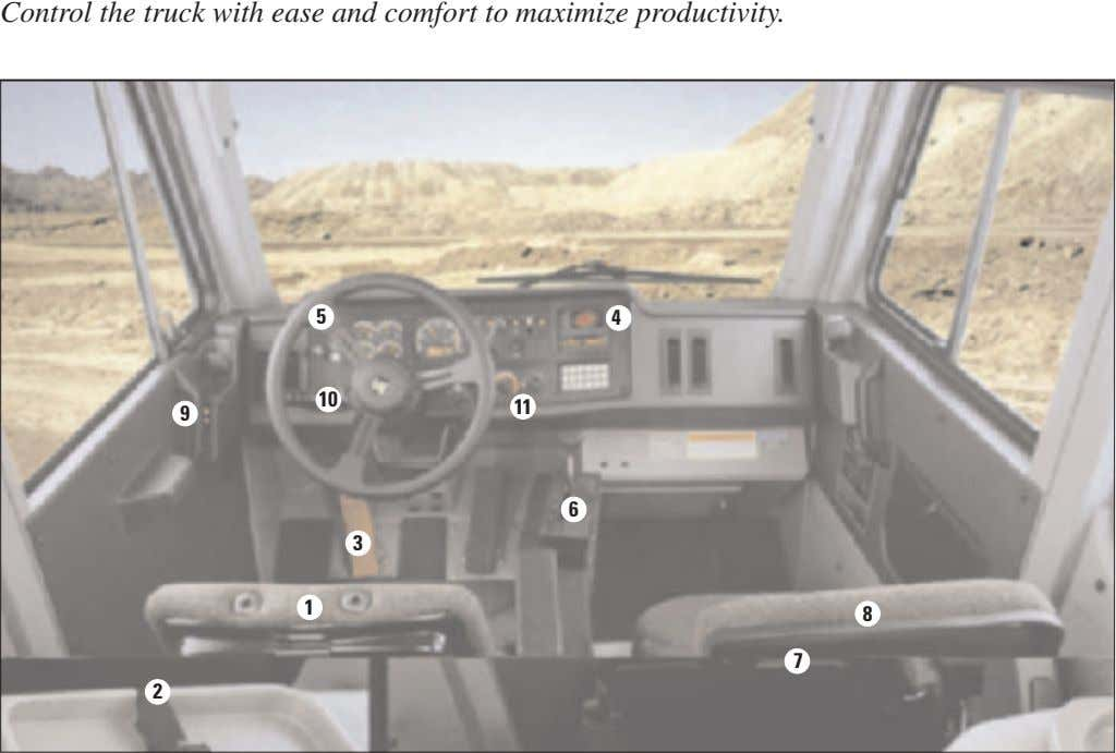Control the truck with ease and comfort to maximize productivity. 5 4 10 11 9 6
