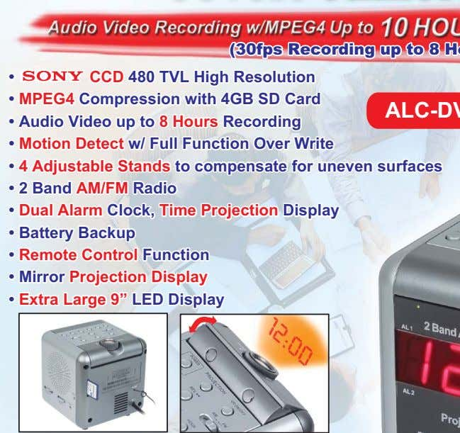 • • CCD 480 TVL High Resolution CCD 480 TVL High Resolution • • MPEG4