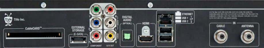 in several months as an optional accessory at TiVo.com. For digital cable, one CableCard (M-CARD) from