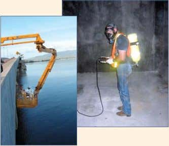 Hard-to-access Structures Confined-space entry and bridge snoopers are commonly used during inspection