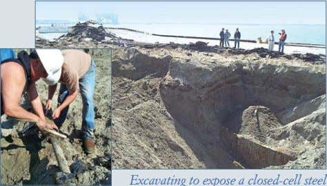 Excavation and testing of buried structures Inspection of tie- rods and deadman structures Excavating to expose