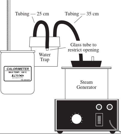 Tubing — 25 cm Tubing — 35 cm Glass tube to restrict opening Water Trap