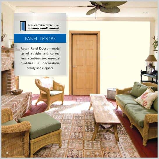 Door Pannel PANEL DOORS Faham Panel Doors -- made up of straight and curved lines,