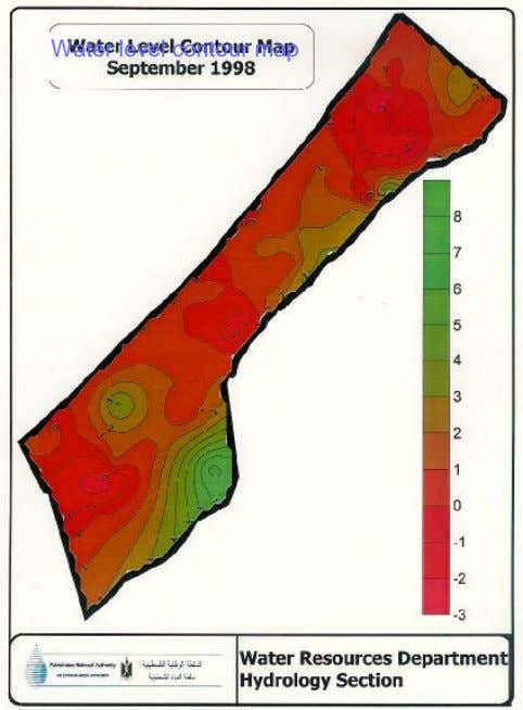 Water level contour map