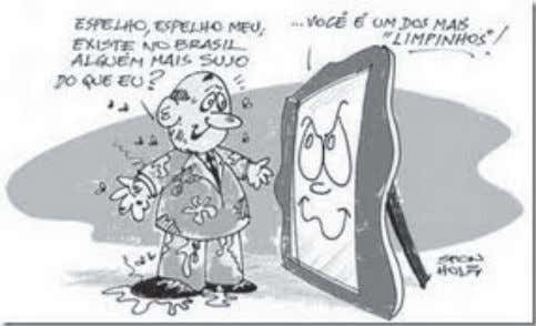 as charges para responder as questões 09, 10 e 11. CHARGE I http://ver.blog.br/tag/ficha-limpa/ CHARGE II CHARGE