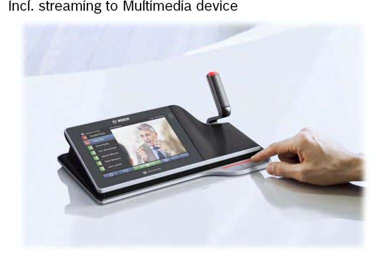 Incl. streaming to Multimedia device
