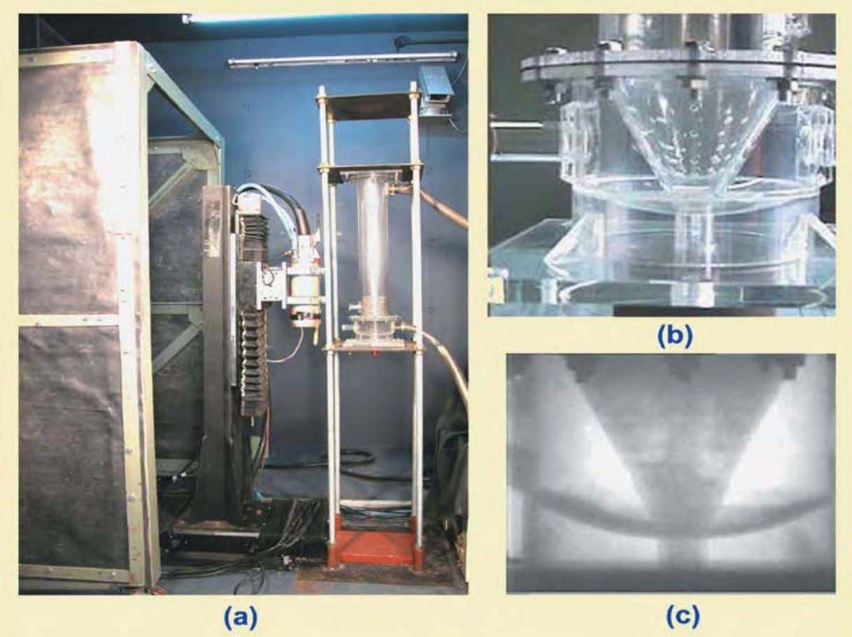 set (b) photograph of gasifier assembly (c) Radiograph of t he two-phase flow pattern Charlie Chong/