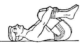 and pulling firmly towards your chest. Hold for three to five seconds. Relax tension. Do five