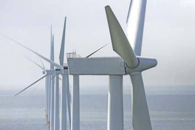13: Blades ready for offshore installation. Source: Siemens. Fig. 14: Offshore 3.6 MW Siemens wind turbines