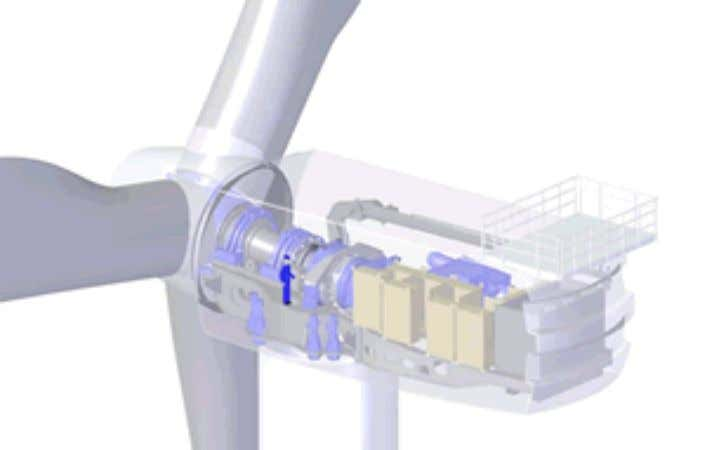The REpower 5M variable speed wind turbine. Source: REpower. Fig. 46: REpower 5 MW wind turbine
