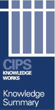 Tendering and Post Tender Negotiation CIPS believes that tendering is most appropriate for high value