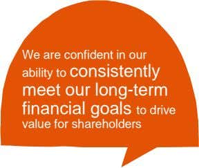 We are confident in our ability to consistently meet our long-term financial goals to drive value