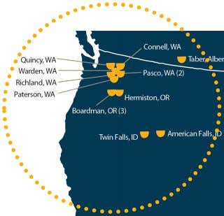 Advantaged manufacturing in Pacific Northwest Processing Facility Includes joint venture facilities Why the Pacific Northwest? •