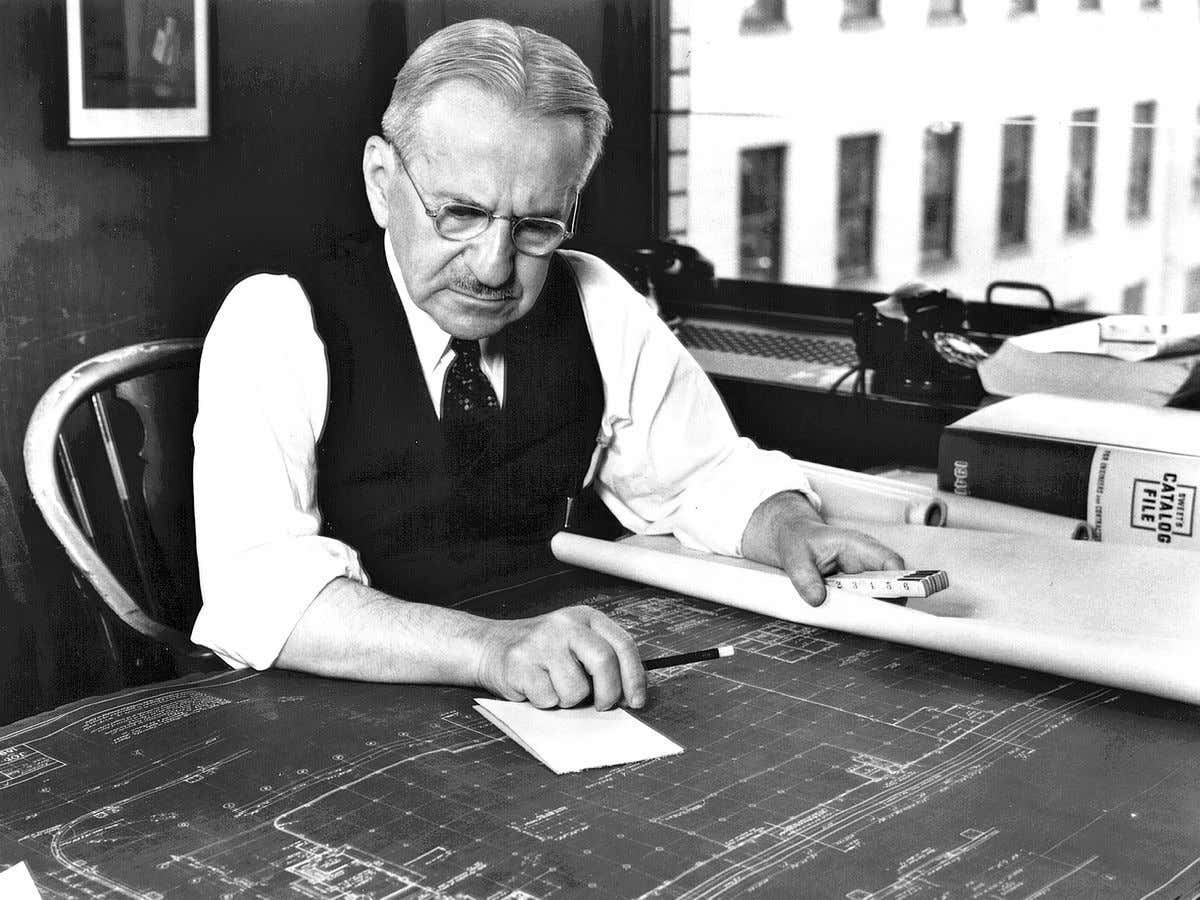 Albert Kahn. Work was hard to find during the Depression. Kahn and his firm built