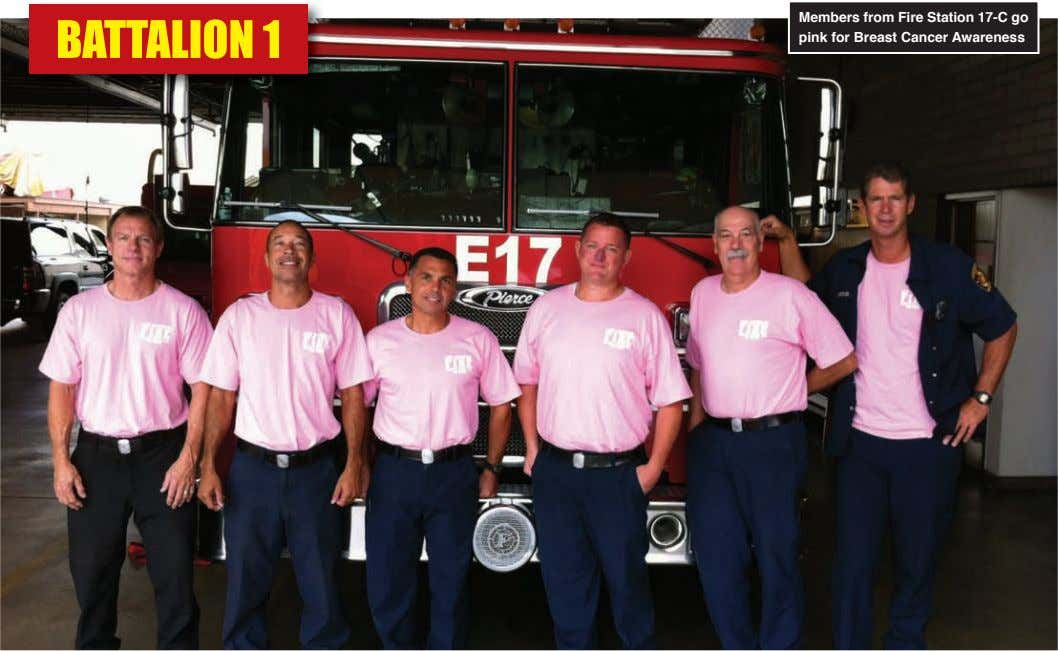 Members from Fire Station 17-C go pink for breast Cancer Awareness