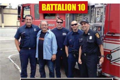 the crew from Engine 83-A met ac- tor Edward James olmos at a com- munity fundraiser.
