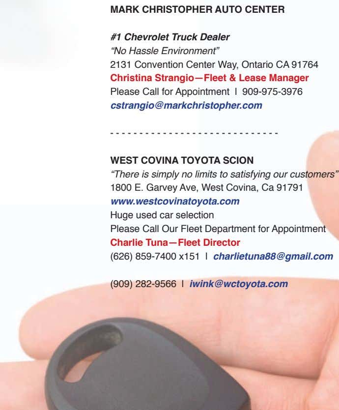 "MARK CHRIStoPHER Auto CENtER #1 Chevrolet Truck Dealer ""No Hassle Environment"" 2131 Convention Center W ay,"