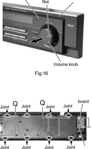 Nut Volume knob Fig.16 board Q Joint Joint Joint Q Joint Joint Joint Joint Joint