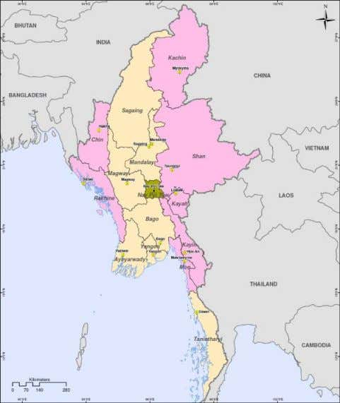 9.8% Data: DFAT Country fact sheet, World Bank, ADB Map: Myanmar Information Management Unit Australia Unlimited