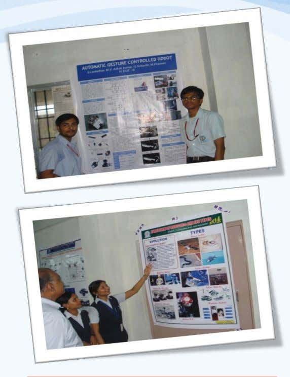 Students @ Poster Presentation Departmental Activities @ ECE Students are encouraged in doing Mini Projects Present