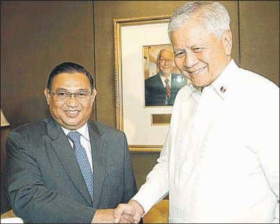 Arroyo telling Ampatuan to Next page 2007 the LAMBINO Visitor from Myanmar. Foreign Affairs Secretary Albert