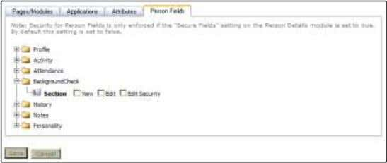 check type. Security Role Permissions Person Fields Security 3) Click Update. Arena Premium Administrator Manual