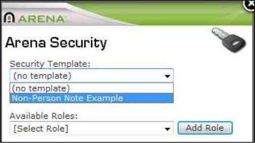 in the security popup window for that object. This feature Arena Security Arena Premium Administrator Manual