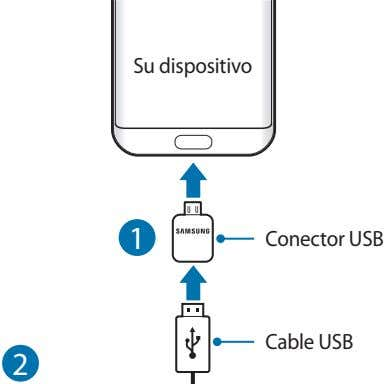 Su dispositivo 1 Conector USB Cable USB 2