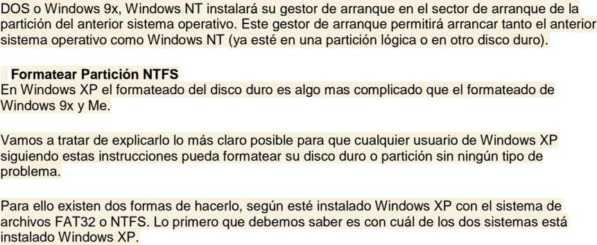 DOS o Windows 9x, Windows NT instalará su gestor de arranque en el sector de arranque