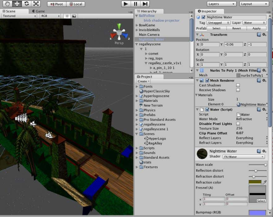 Game Development with Unity The logo scene has a script to transition from the logo scene