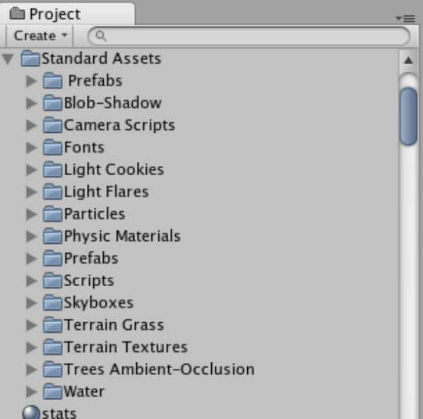 Game Development with Unity If you need import or reimport Standard Assets later, (e.g. if you