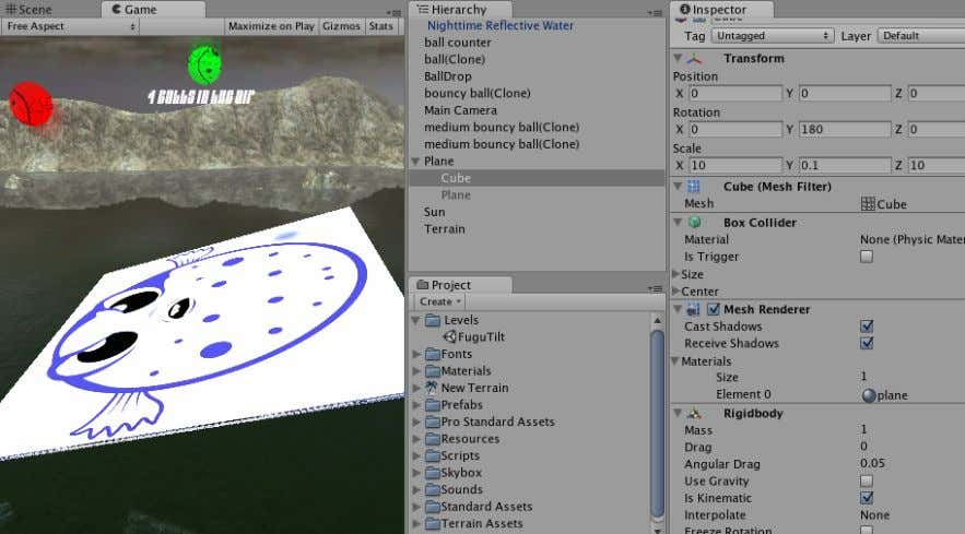 Game Development with Unity marked as kinematic. 10.7. Physics Materials Collision reactions among colliders are determined
