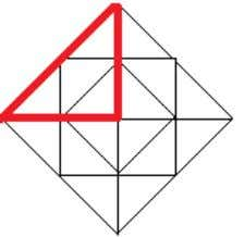 There will be 4 such triangles in this picture Step 7 There will be 4 such