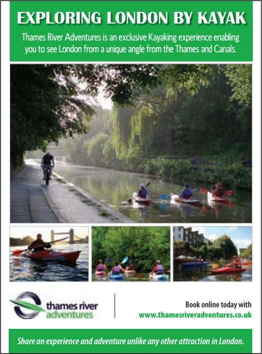 Book online today with www.thamesriveradventures.co.uk Share an experience and adventure unlike any other attraction in