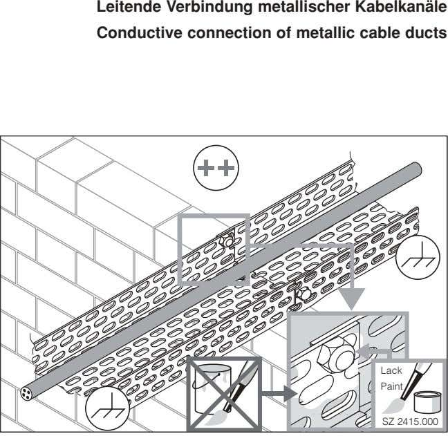 Leitende Verbindung metallischer Kabelkanäle Conductive connection of metallic cable ducts Lack Paint SZ 2415.000