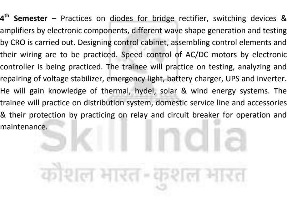 4 th Semester – Practices on diodes for bridge rectifier, switching devices & amplifiers by