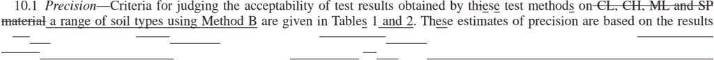 10.1 Precision—Criteria for judging the acceptability of test results obtained by thiese test methods on CL,