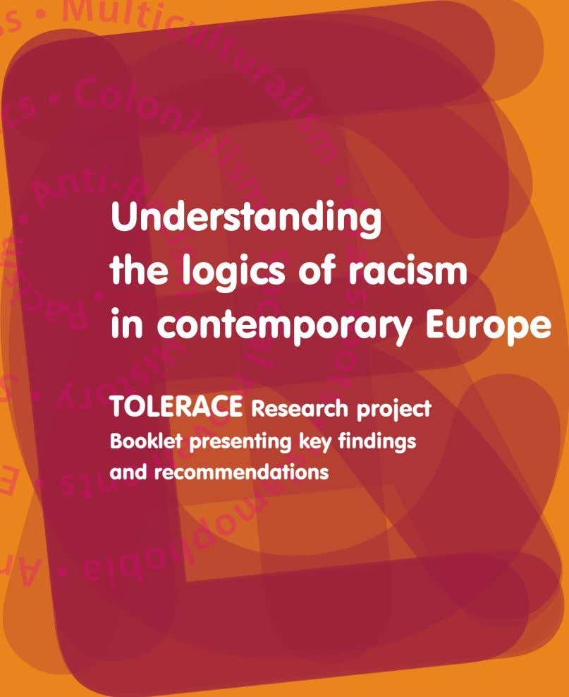 Understanding the logics of racism in contemporary Europe