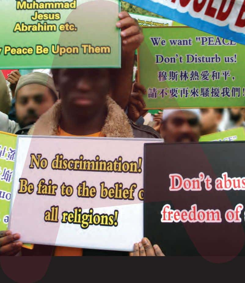 (Anti-)racism and freedom of speech - Protest in Hong Kong (17 February 2006) against the