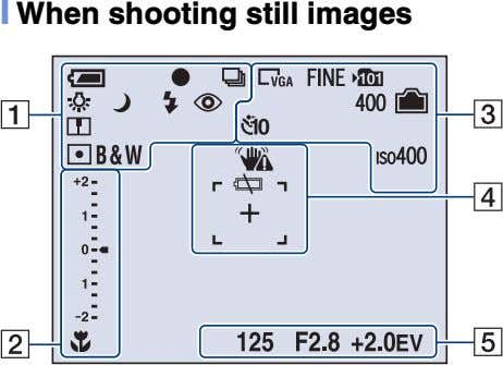 [ When shooting still images